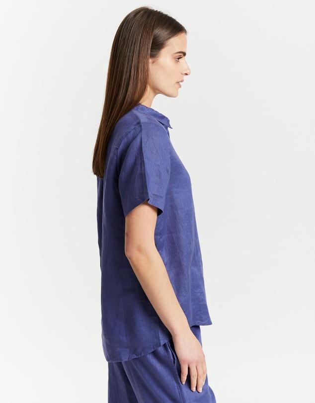 Women Resort Linen SS Shirt