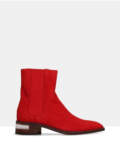 Beau Coops Ivy Ankle Boots Red
