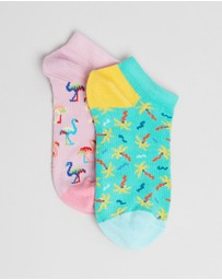 Happy Socks - 2-Pack Confetti Palm Low Socks - Babies-Teens