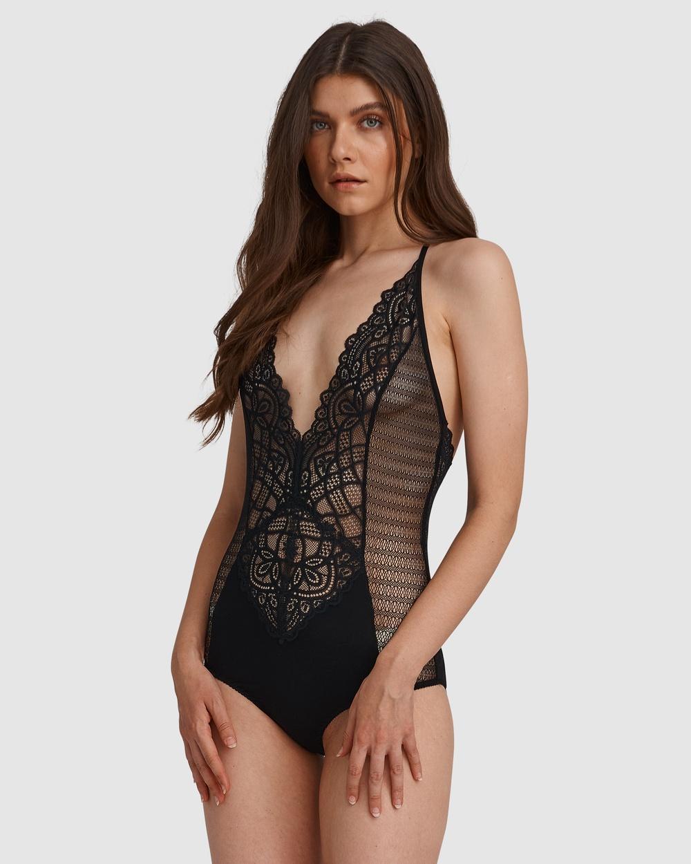 Oh!Zuza Lace Bodysuit Onesies Black Australia