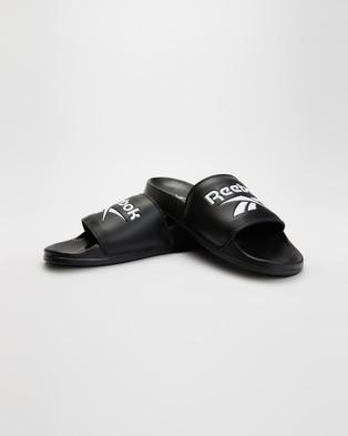 Reebok Classic Slides   Men's - Slides (Black, White & Black)