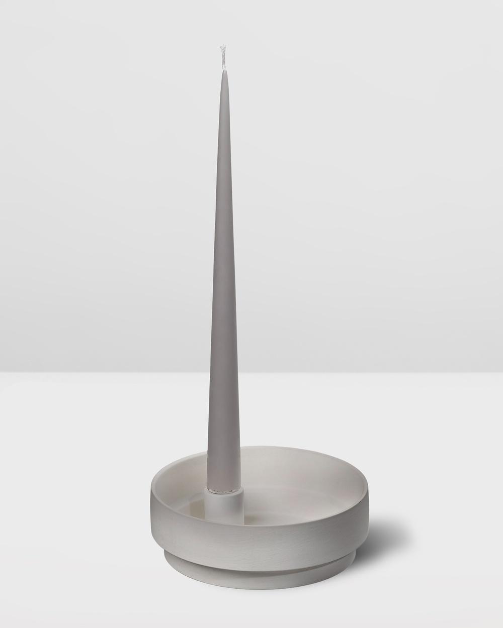 Aery Living Orbital Step Ceramic Candle Holder Medium Home Grey