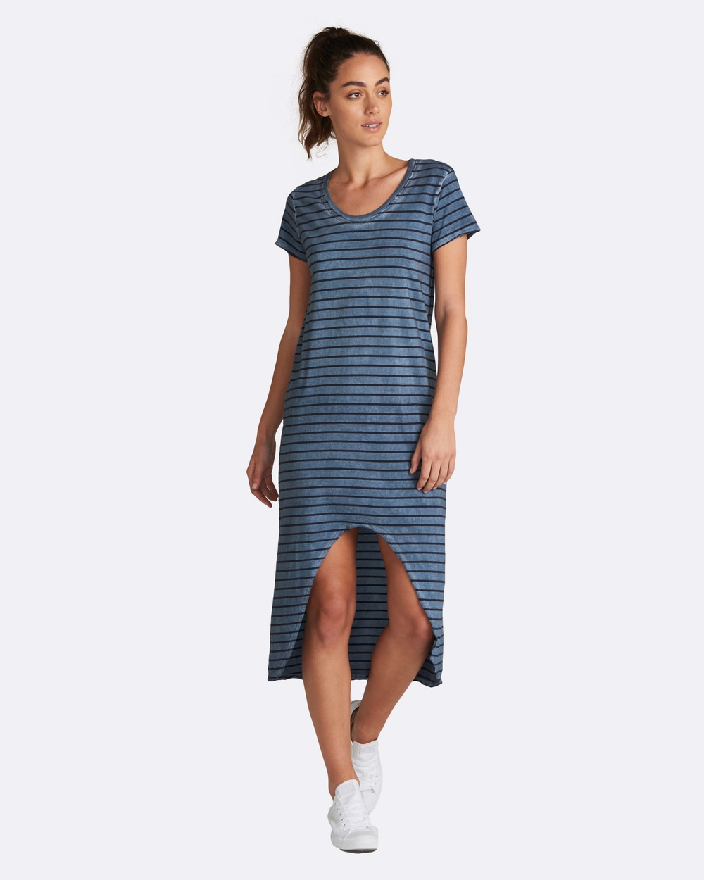 jac + mooki Maisie Stripe Dress Dresses Indigo Maisie Stripe Dress