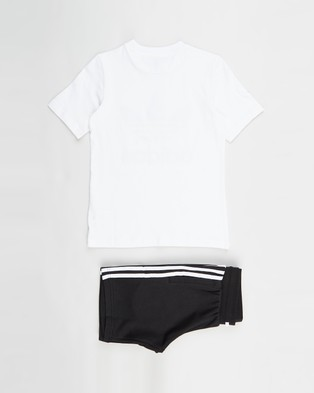 adidas Originals Adicolor Tee and Shorts Set Kids White & Black