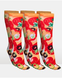 Pizza Socks Supreme - 3 Pack