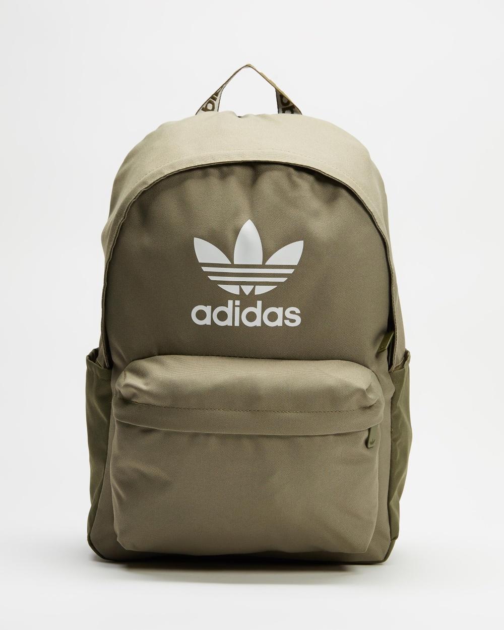 adidas Originals Adicolor Classic Backpack Backpacks Orbit Green, Focus Olive & White