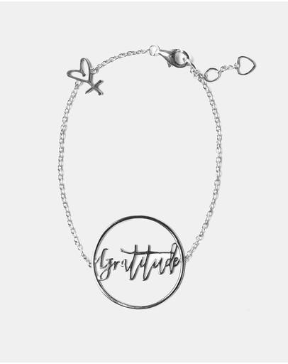 Secret Sisterhood Gratitude Bracelet Silver