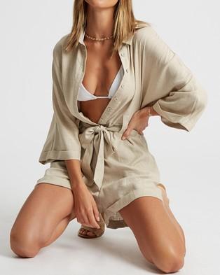 Calli Greta Playsuit - Jumpsuits & Playsuits (Stone)