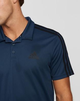 adidas Performance 3 Stripes Polo Shirt - Shirts & Polos (Crew Navy)