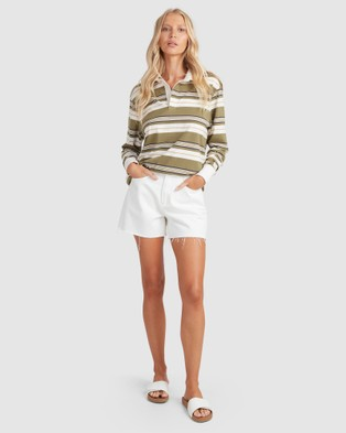 Billabong Double Up Rugby Long Sleeve - Tops (OLIVE)
