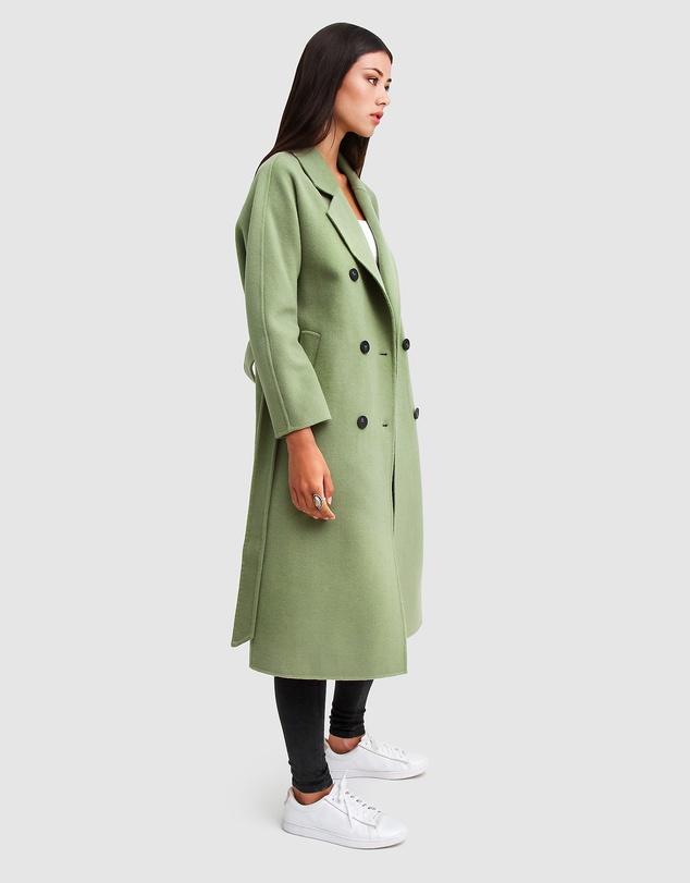 Women Boss Girl Double-Breasted Wool Coat