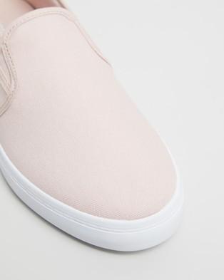 Lacoste Tatayla Slip On Sneakers   Women's - Slip-On Sneakers (Light Pink & White)