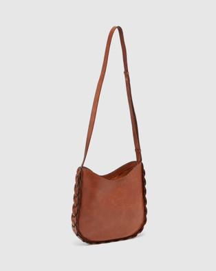 Oxford - Orlena Leather Hobo Bag - Handbags (Black) Orlena Leather Hobo Bag