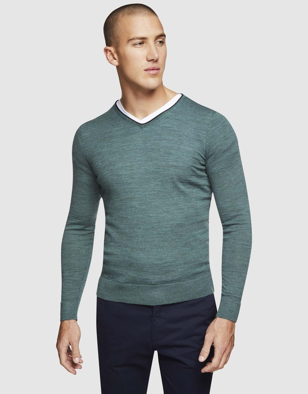 Oxford - Perry Merino Wool V-Neck Knit