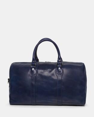 Republic of Florence The Beltrami Blue Weekender Bag - Duffle Bags (Blue)