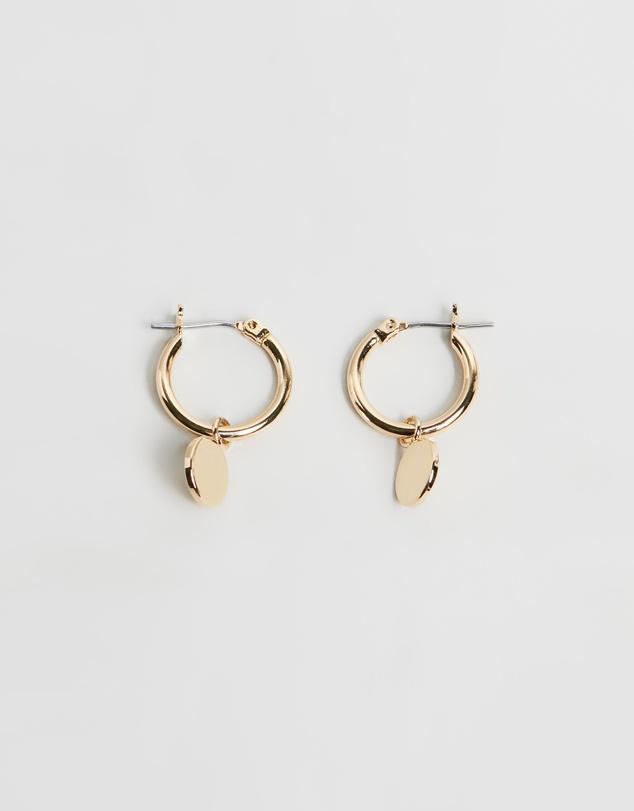 chunky-mini-coin-&-hoop-earrings by orelia-london