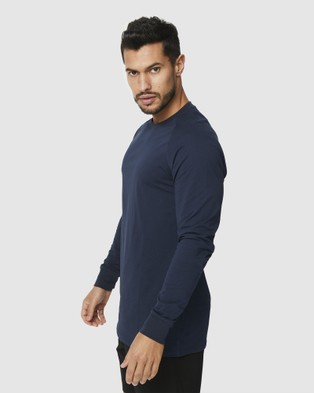 Muscle Republic Creed Long Sleeve Tee - T-Shirts & Singlets (Navy)