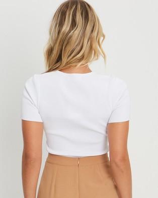 Tussah Farrah Knit Top - Tops (White)