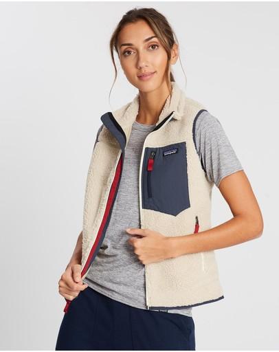 Patagonia Classic Retro-x Vest Natural & Smolder Blue