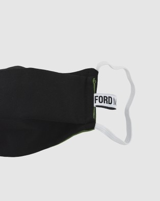 Ford Millinery 3 Ply Reversible Fabric Face Mask - Wellness (Black & Khaki)