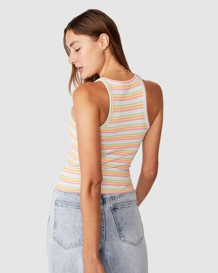 Cotton On The Turn Back Tank - Cropped tops (Summer Multi Stripe)
