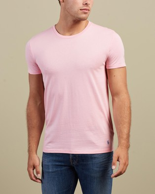 Polo Ralph Lauren - 3 Pack SS Crew Neck Tee - T-Shirts & Singlets (White, Berm Blue & Res Pink) 3-Pack SS Crew Neck Tee