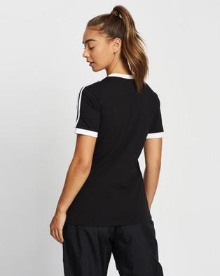 adidas Originals Adicolor Classics 3 Stripes Tee - Short Sleeve T-Shirts (Black)
