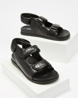Atmos&Here Zander Leather Sandals - Sandals (Black)