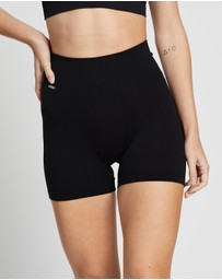 Aim'n - Ribbed Midi Biker Shorts