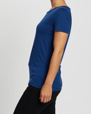 Icebreaker Tech Lite Short Sleeve Low Crew Tee - Short Sleeve T-Shirts (Estate Blue)