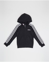adidas Performance - Essentials 3-Stripes Full-Zip Hoodie - Kids-Teens