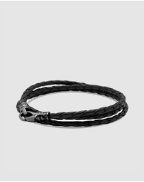 Nialaya Jewellery - Men's Wrap-Around Leather Bracelet