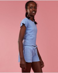 Eve Girl - 2-Pack Waffle Shorts - Kids-Teens