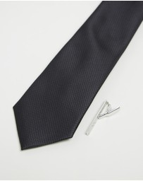 Jeff Banks - Ivy League Tie & Tie Bar Gift Pack
