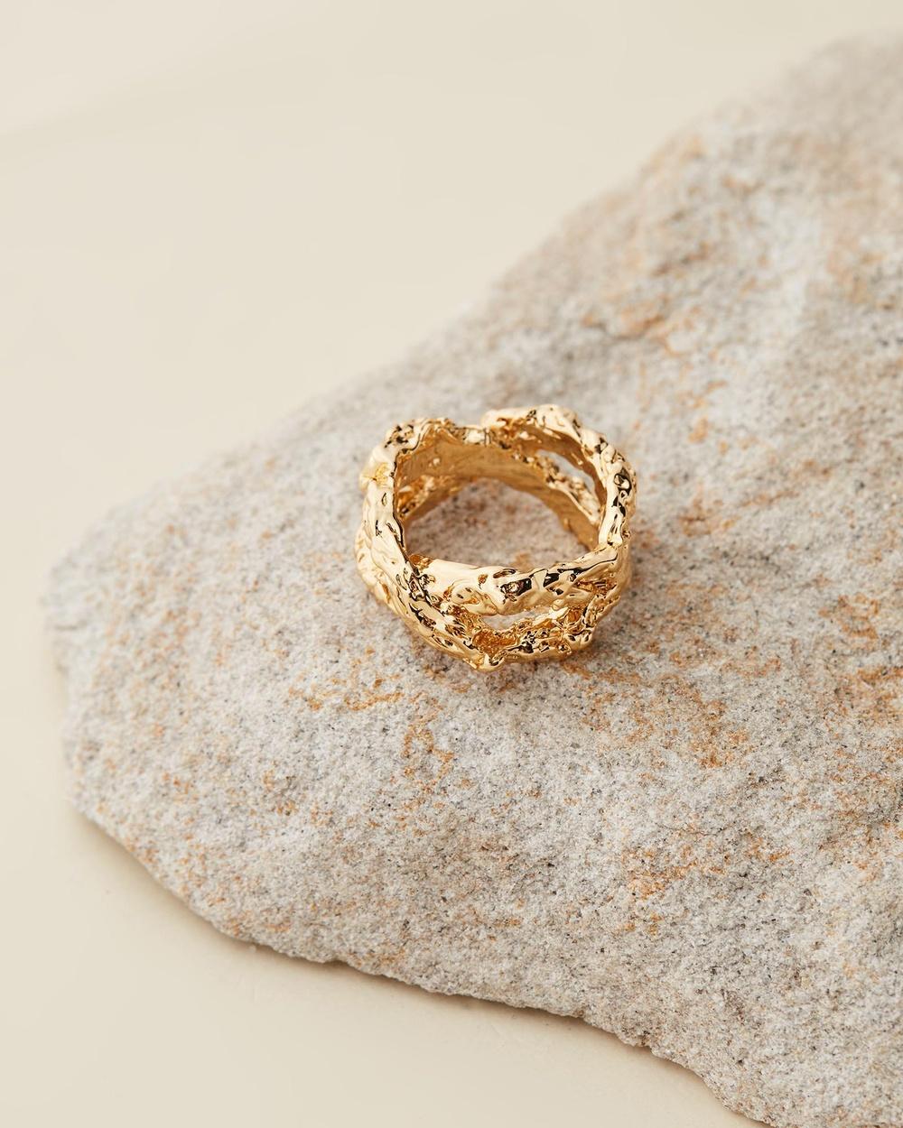 Amber Sceats Jadé Tunchy x Nora Ring Jewellery Gold