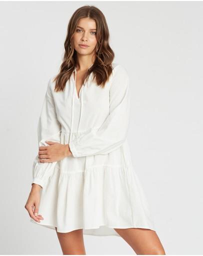 Atmos&here Gemma V-neck Mini Dress White
