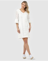 Privilege - Ruffle Sleeve Dress
