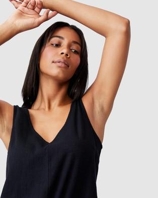 Cotton On Woven Jess Tie Back Romper - Jumpsuits & Playsuits (Black)