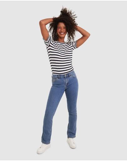 Sportscraft Simone Straight Jeans Mid Wash