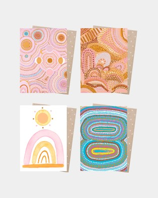 Earth Greetings Eco Card Wrap Bundle All Stationery Seven Sisters Dreaming