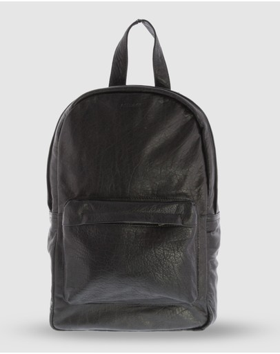 Cobb & Co Byron Jr. Soft Leather Backpack Black