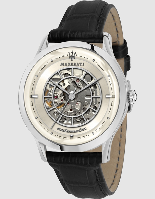 Men Ricordo 42mm Automatic Ivory Dial Watch