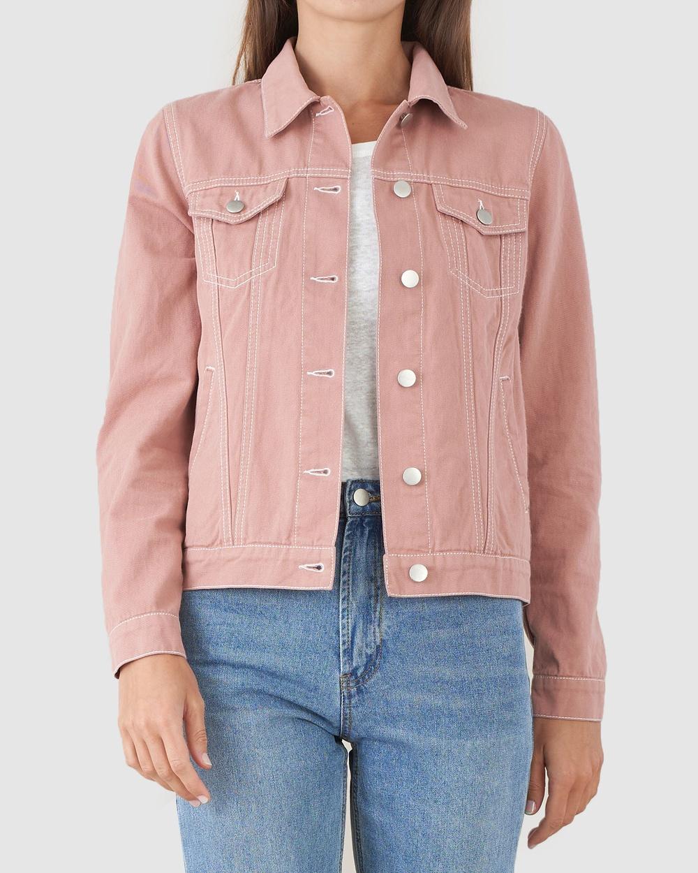 Amelius Alliance Drill Denim Jacket jacket Pink Australia