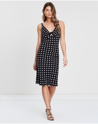 Atmos&Here - Tie-Front Midi Dress