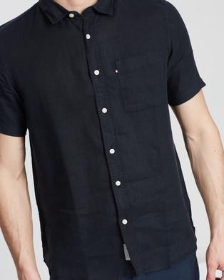 Academy Brand Hampton Linen SS Shirt - Casual shirts (Black)
