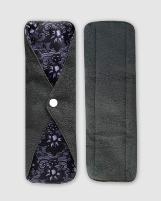 B Free Intimate Apparel Day & Night Reusable Stay Dry Leakage & Period Pads - Beauty (Black Lace)