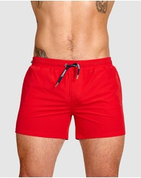 TEAMM8 - Grid Swim Shorts