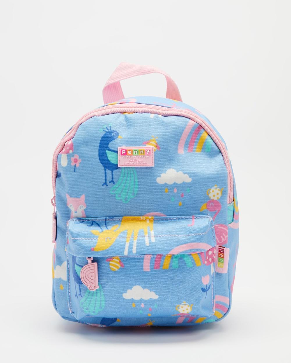 Penny Scallan Mini Backpack School with Rein Backpacks Rainbows