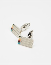 Paul Smith - Etched Stripe Cufflinks