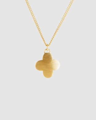 FAIRLEY Moroccan Drop Necklace - Jewellery (Gold)